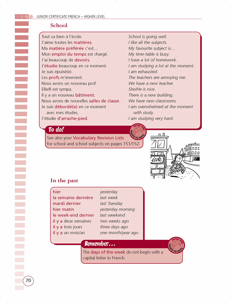 french vocabulary lists